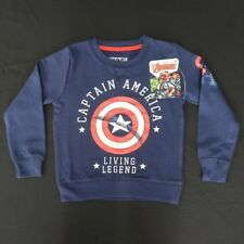 Marvel Kid's Captain America Living Legend L/S Graphic T Shirt