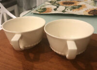 2 Villeroy & Boch Luxembourg Switch Coffee House Cups Faience Porcelain