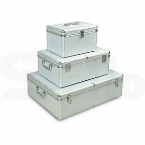 Aluminium CD DVD Bluray Storage Box Case - Holds 80, 120, 200, 600, 1000 Discs A