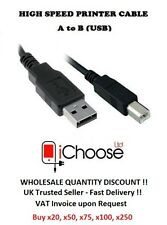USB Printer Cable 1m a to B Lead for HP Canon Pixma Epson Kodak Others / 100cm