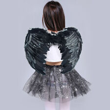 Kids Adults  Feather Angel Wings Fariy Fancy Christmas Halloween Cosplay Costume