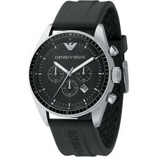 Emporio Armani Black/Silver Quartz Analog Men's Watch AR0527