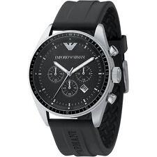 Emporio Armani Black / Silver Quartz Analog Men's Watch AR0527