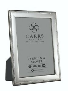 """SOLID SILVER PHOTO / PHOTOGRAPH FRAME (6 X 4"""") By Carr's Ribbon & Reed"""