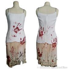 Zombie Dress M Medium 8 Costume Walking Dead OOAK Hand Painted Wedding Prom