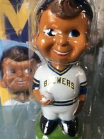2015 Milwaukee Brewers Vintage Boy Bobblehead In Box MLB Fan Giveaway