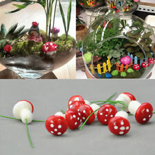 New 20Pcs Lovely Mushrooms Doll House Fairy Garden Flower Pot Bonsai Decor Toy