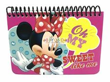 Disney Minnie Mouse Spiral Autograph Book 40 Sheets