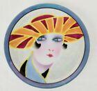 Vintage Noritake Lusterware Art Deco Lady Face Dessert Plate Tray Round The Eyes