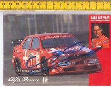 ALESSANDRO NANNINI -  ALFA ROMEO 1994 Rally Monza cartolina autografata original