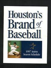 Houston Astros--1997 Pocket Schedule--Orbit