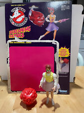 The Real Ghostbusters Screaming Heroes Janine Melnitz w/ ghost and backing card
