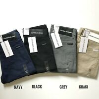NWT Calvin Klein Jeans Men's Essentials Slim Straight Solid Stretch Chino Pants