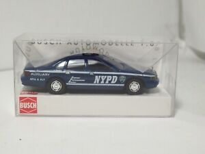 Busch NYPD New York Police Department Auxiliary Chevy Caprice Classic 1:87 HO