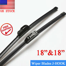 "18"" & 18"" BRACKETLESS WINDSHIELD WIPER BLADES All Season Premium OEM QUALITY New"