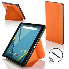 Forefront Custodie Arancione Origami Smart Cover HTC Google Nexus 9 8.9 Stilo