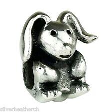 Trama grossa Bunny Rabbit / LEPRE Sterling Silver Bracciale / BRACCIALETTO CHARM PERLINE
