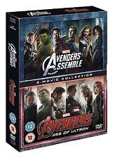 Avengers Age Of Ultron/Avengers Assemble Doublepack [DVD] New UNSEALED MINOR BOX