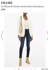 BEST SELLING FRAME DENIM Le Skinny de Jeanne Blue Jeans Size 24