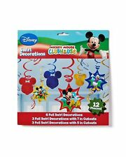 Set Of 2 Mickey Mouse Birthday Hanging Swirl Ceiling Decoration Pack Of 1...