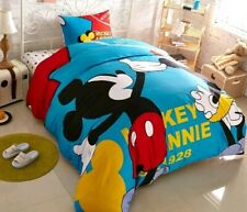 5pc. DISNEY'S MICKEY MOUSE 100% COTTON TWIN FULL QUEEN COMFORTER SET