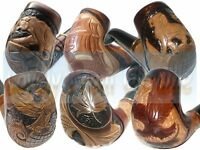 DIFFICULT wooden Hand carved TOBACCO SMOKING PIPE for choice, handmade for 9 mm