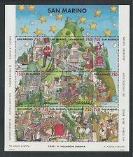 SAN MARINO # 1285 MNH EUROPA 1993 Miniature Sheet