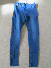 H&M - BLUE SKINNY FIT DISTRESSED JEANS SIZE 38 EURO COTTON BLEND
