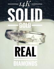 MENS DIAMOND ENGAGEMENT RING 14K WHITE GOLD