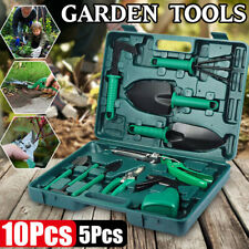10PCs Stainless Steel Garden Tools Set Gardening Tool Case with Trowel