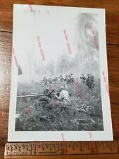 WW2 Original Photo Aitape (New Guinea) 533 ENG Amphib Regiment -M3 37mm Sighting