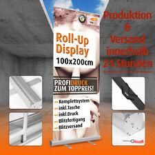 RollUp Banner Werbebanner 100x200cm * mit DRUCK Werbedisplay Aufsteller drucken