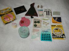 More details for vintage 17 needlework sewing selection accessories including solid nickel silver