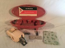 Singer Slant Buttonholer Sewing Machine Attachment w Template Cams Pink Jetson