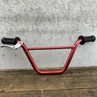 Old School BMX Handlebars Alloy Aluminum Bars Tuf Race Inc RED