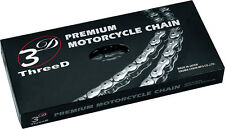 EK THREE-D(3D) PREMIUM MOTORCYCLE DRIVE CHAIN  - PITCH 530 Z120S - CHROME