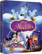 Aladdin Limited Edition SteelBook [Blu-ray, Disney, Region Free, 1-Disc] NEW