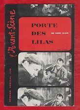 CINEMA. L'Avant-Scène N°SPECIAL (1957). Porte des Lilas de René Clair, Brassens