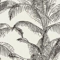 PANDORE PALM LEAVES WALLPAPER WHITE / BLACK RASCH 406801 - TROPICAL NEW