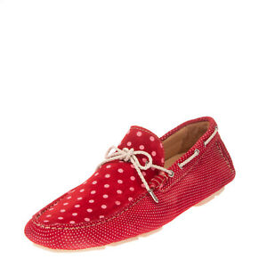 RRP€165 GOLD BROTHERS Leather Driving Moccasins EU 41 UK 7 US 8 Made in Italy