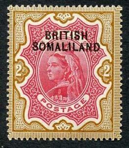 Somaliland SG10 2r Opt at Top Fresh M/M (hinge remainder) Cat 35