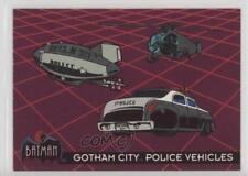 1993 Topps Batman: The Animated Series #45 Gotham City Police Vehicles Card 1k3