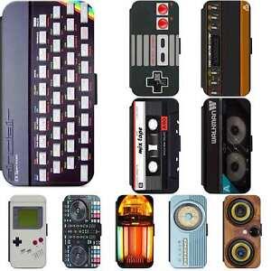 Retro Gadget Electronics Flip Phone Case Wallet Cover iPhone Samsung Geeky Geek