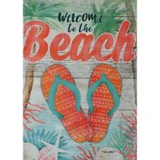 "Welcome To The Beach 12.5"" X 18"" Garden Flag 27-3230-162 Flip It! Rain Or Shine"