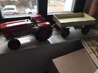DDR Spielzeug Anker Piko Traktor ZT 300 Anhänger guter Zustand gebraucht