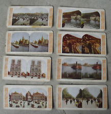 Lot of 8 Vintage 1900 World Series Paris France Stereoview Cards
