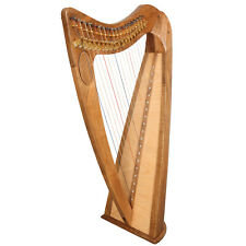 19 String Claddagh Harp Walnut Irish Lever Harp, Celtic Irish Harp,Irish Harp