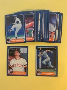 1986 Fleer Detroit Tigers Team Set 29 Cards With Update