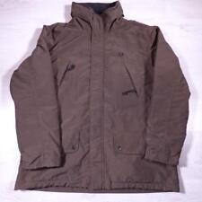 Mens FRED PERRY Brown Nylon Designer Winter Coat Jacket Large #F2791