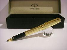 Penna Parker Roller Premium in oro laminato Tartan con lavorazione Ghiglioscè